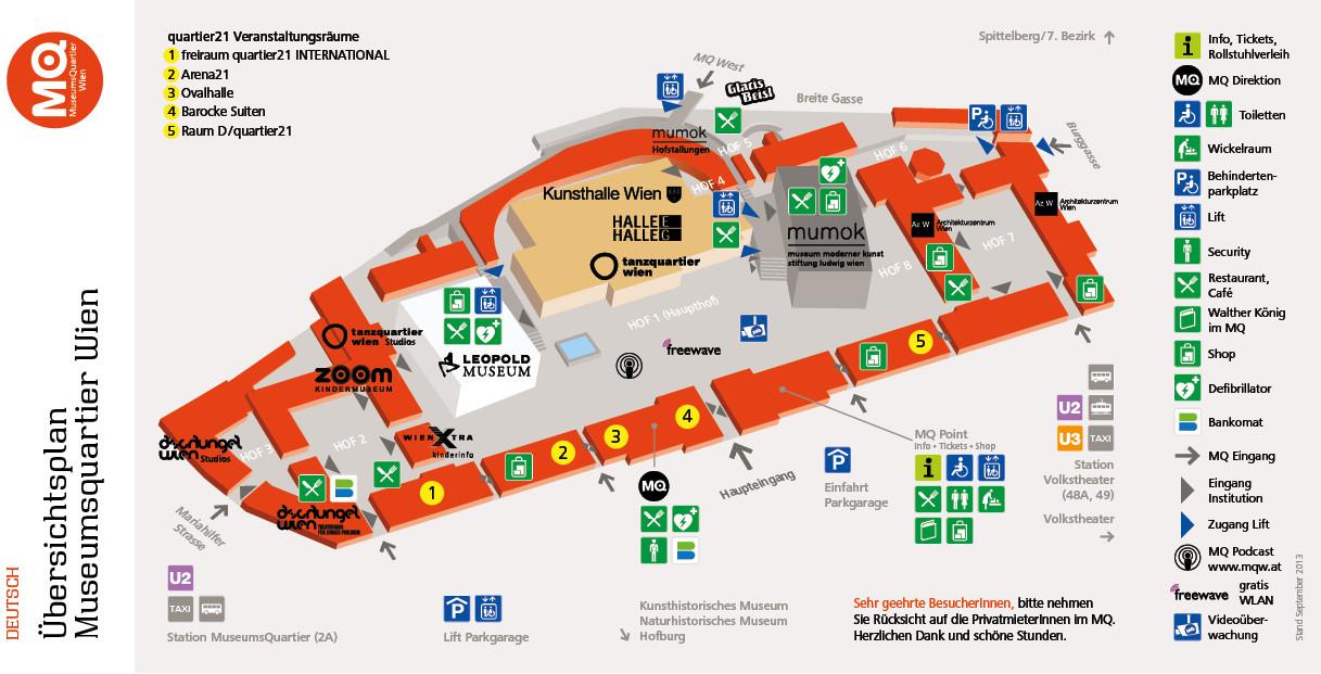 MQVFW MuseumsQuartier Map